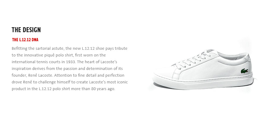 4bf1d8c146a84 ... the L.12.12 shoe has captured all the signature Lacoste fine detailing.  lacoste-l1212-footwear-new-collection-design
