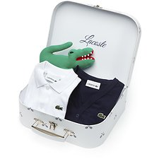 Image of Lacoste NAVY BLUE/WHITE KIDS' GIFT BOX SET