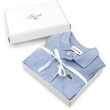 Image of Lacoste CLOUDY BLUE CHINE KIDS' BABY JUMPSUIT GIFT BOX