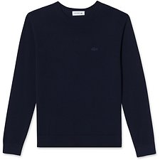 Image of Lacoste NAVY BLUE WOMEN'S PLEATED BACK KNIT