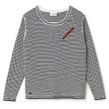 Picture of MADE IN FRANCE STRIPE SWEATER WITH ZIP DETAIL