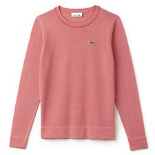 Image of Lacoste TOREADOR/VANILLA PLANT WOMEN'S STRIPE SWEATER