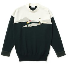 Image of Lacoste RUTABAGA/PUMILA-ANTHORA-LINNEE WOMEN'S FASHION SHOW GOLF DESIGN SWEATER