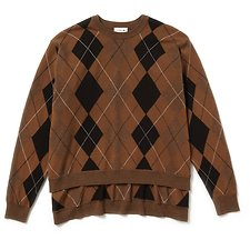 Image of Lacoste LUZULE/ARIDE CHINE-TEAK-FLOUR-BLACK WOMEN'S FASHION SHOW PONCHO SWEATER
