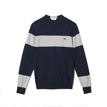 Image of Lacoste  MEN'S COLOUR BLOCK WOOL SWEATER