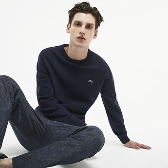 Image of Lacoste  MEN'S CREW NECK WOOL KNIT