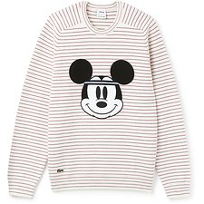 Image of Lacoste WHITE/LIGHTHOUSE RED MEN'S MICKEY MOUSE KNIT
