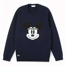 Image of Lacoste NAVY BLUE/NAVY BLUE MEN'S MICKEY MOUSE KNIT
