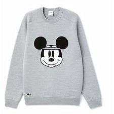 Image of Lacoste SILVER CHINE/SILVER CHINE MEN'S MICKEY MOUSE KNIT