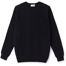 Image of Lacoste DARK NAVY BLUE MEN'S CREW NECK PIQUE SWEATER