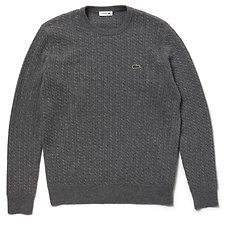 Image of Lacoste TUAREG UNISEX FASHION SHOW CABLE KNIT SWEATER