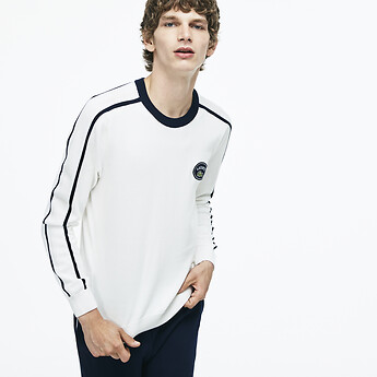 Image of Lacoste  MEN'S RETRO KNIT WITH BADGE
