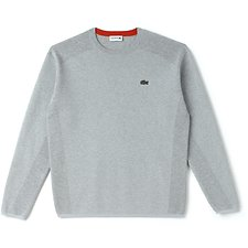 Image of Lacoste PLUVIER CHINE/POMEGRENATE MEN'S FANCY STITCH KNIT