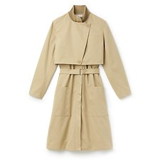 Image of Lacoste  WOMEN'S COTTON TWILL TRENCH COAT