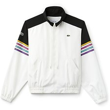 Image of Lacoste FLOUR/BLACK-BLACK UNISEX FASHION SHOW RETRO TRACK JACKET