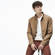 Image of Lacoste KRAFT BEIGE MEN'S HARRINGTON JACKET