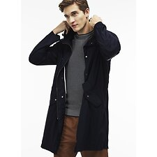 Image of Lacoste DARK NAVY BLUE MEN'S HOODED PARKA