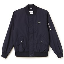 Image of Lacoste DARK NAVY BLUE MEN'S BOMBER JACKET