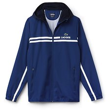 Image of Lacoste MARINO/NAVY BLUE-WHITE MEN'S RETRO LOGO JACKET