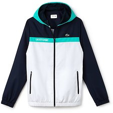 Image of Lacoste NAVY BLUE/WHITE-PAPEETE MEN'S COLOUR BLOCK SPORT JACKET