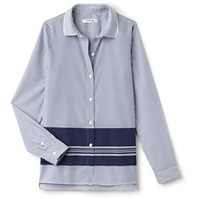 Picture of POPLIN STRIPE SHIRT WITH PRINTED DETAIL