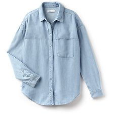 Image of Lacoste BLEACH WOMEN'S REGULAR FIT DENIM SHIRT