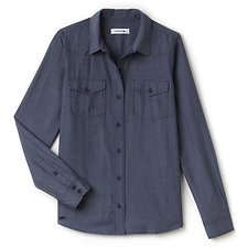 Picture of WOMEN'S SLIM FIT CHAMBRAY SHIRT