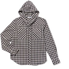 Image of Lacoste SCILLE/FLOUR-SOLANEE-ANTHORA MEN'S FASHION SHOW HOODED CHECK SHIRT