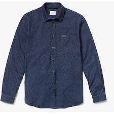 Image of Lacoste NAVY BLUE MEN'S KEITH HARING LONG SLEEVE SHIRT