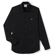 Image of Lacoste BLACK SLIM FIT STRETCH SHIRT