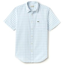 Picture of REGULAR FIT SHIRT IN GINGHAM POPLIN WITH SHORT SLEEVES