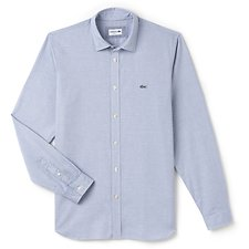 Picture of MEN'S SLIM FIT POLKA DOT POPLIN SHIRT
