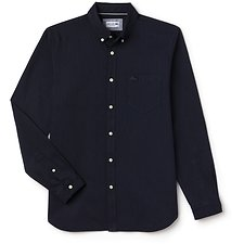Image of Lacoste NAVY BLUE/WHITE MEN'S REGULAR FIT POLKA DOT SHIRT