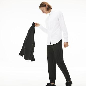 Image of Lacoste  MEN'S SLIM STRETCH SOLID POPLIN SHIRT