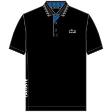 Image of Lacoste BLACK/ROYAL BLUE-WHITE MEN'S GOLF PERFORMANCE POLO