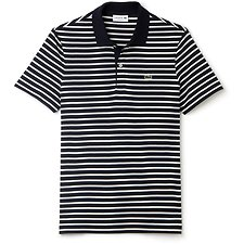 Picture of LACOSTE REGULAR FIT POLO IN STRIPED JERSEY