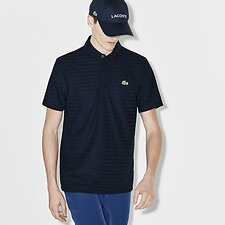 Image of Lacoste NAVY BLUE MEN'S SPORT THIN STRIPE GOLF POLO