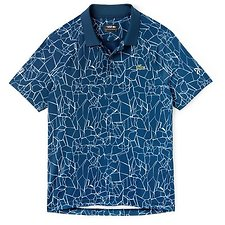 Image of Lacoste AZURITE/WHITE MEN'S NOVAK DJOKOVIC PRINTED POLO