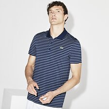 Image of Lacoste INKWELL/WHITE MEN'S GOLF STRIPE POLO