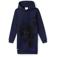 Image of Lacoste NAVY BLUE WOMEN'S MINNIE MOUSE SWEATSHIRT DRESS