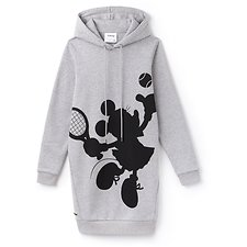 Image of Lacoste SILVER CHINE WOMEN'S MINNIE MOUSE SWEATSHIRT DRESS