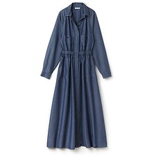 Picture of LONG SLEEVE CHAMBRAY MAXI DRESS