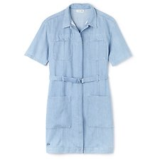 Image of Lacoste BLEACH WOMEN'S DENIM DRESS