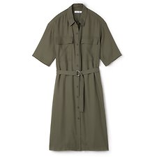 Image of Lacoste ARMY WOMEN'S PIQUE SAFARI DRESS
