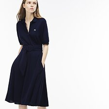 Picture of WOMEN'S PIQUE DRESS WITH BELT