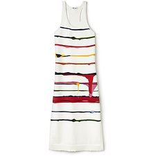 Picture of WOMENS FASHION SHOW LONG STRIPE DRESS