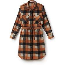 Picture of WOMEN'S NYFS CHECKERED SHIRT DRESS