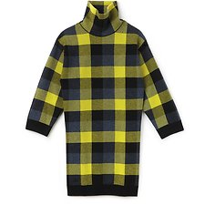 Picture of WOMEN'S NYFS CHECKERED TURTLE NECK DRESS