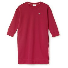 Image of Lacoste GOJI RED/WHITE-CHEEKBONE WOMEN'S SWEATSHIRT DRESS