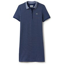 Image of Lacoste INKWELL/WHITE WOMEN'S SPORT GOLF POLO DRESS